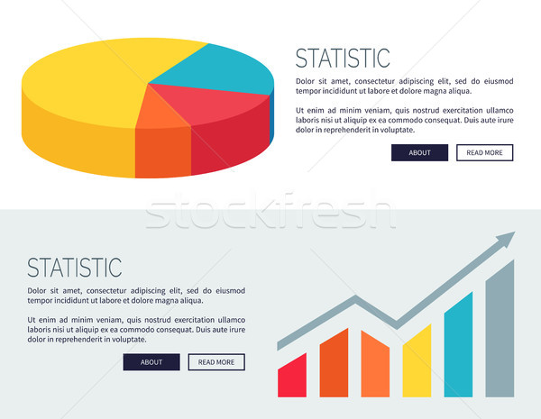 Statistic Demonstration Design for Web Page Stock photo © robuart