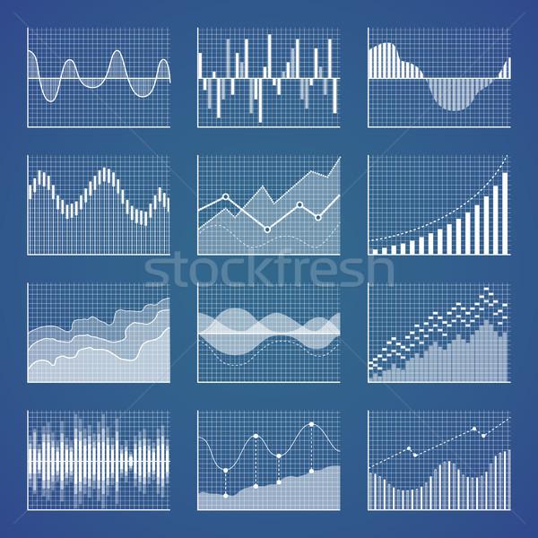 グラフィックス グリッド コレクション 波 壊れた 行 ストックフォト © robuart