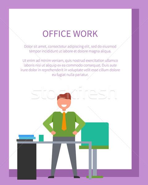 Ofis işleri poster başarı iş afiş metin Stok fotoğraf © robuart