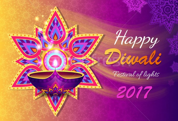 Happy Diwali Lights Festival Vector Illustration Stock photo © robuart
