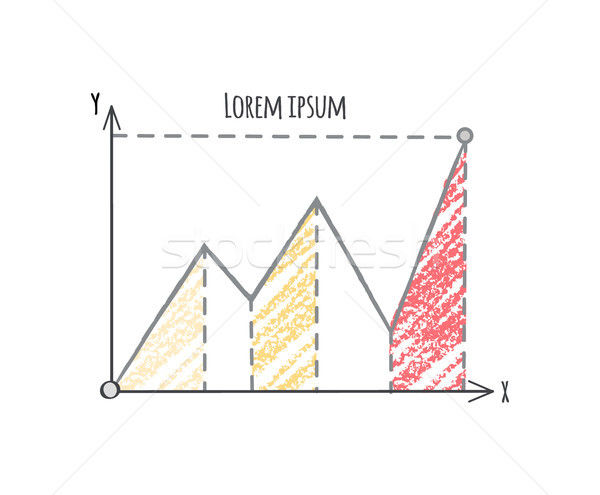 Diagram with Three Tops on Vector Illustration Stock photo © robuart