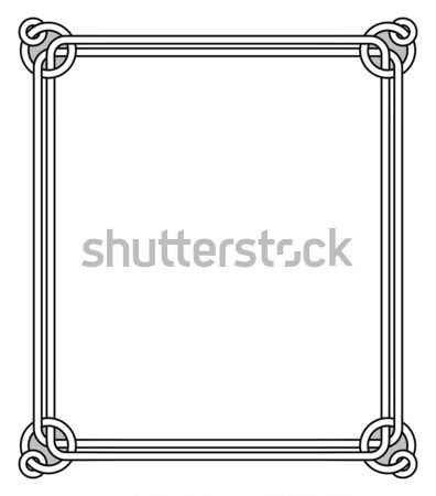 Frame with Decor Elements Vector Illustration Stock photo © robuart
