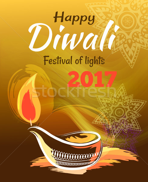 Happy Diwali Festival of Lights 2017 Banner Stock photo © robuart