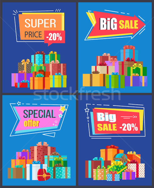 Special Offer Big Sale Super Price 20 Off Discount Stock photo © robuart
