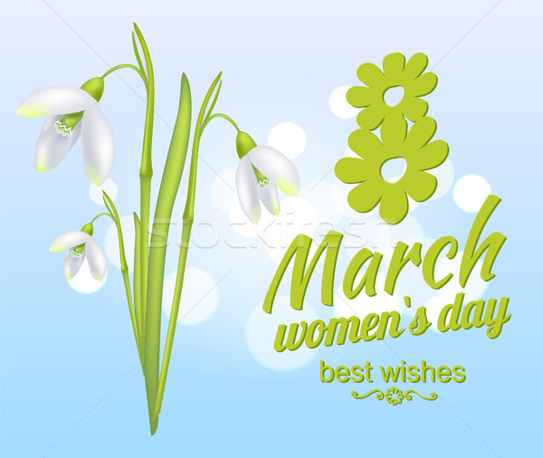 8 March Womens Day Best Wishes Greeting Card Stock photo © robuart