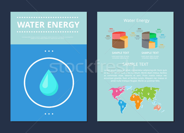 Water Energy Poster Collection Vector Illustration Stock photo © robuart