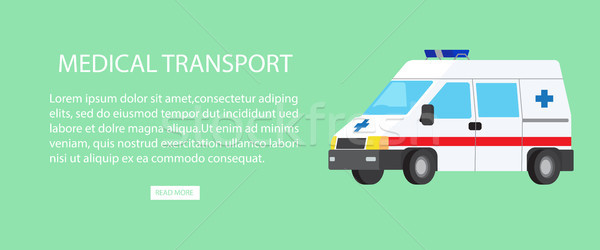 Medical Transport Isolated Illustration with Text Stock photo © robuart