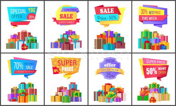 Szett különleges ár exkluzív árengedmény plakátok Stock fotó © robuart