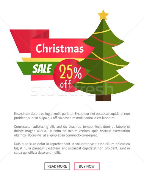 25 Noel satış kart sevimli Stok fotoğraf © robuart
