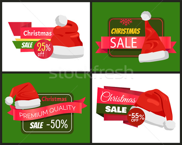 Christmas Holiday Posters Set Vector Illustration Stock photo © robuart