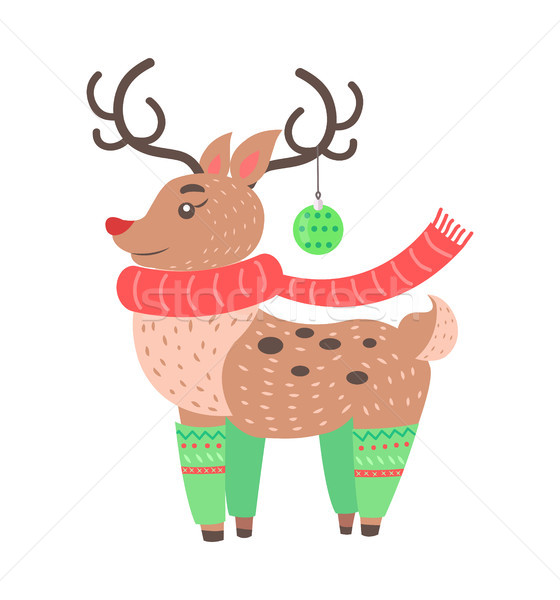 Little Cute Deer Icon Vector Illustration Stock photo © robuart