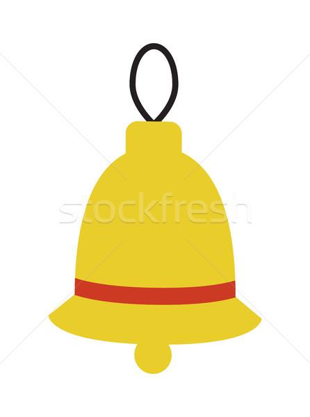 Dzwon koronki naszywka czerwony tradycyjny christmas Zdjęcia stock © robuart