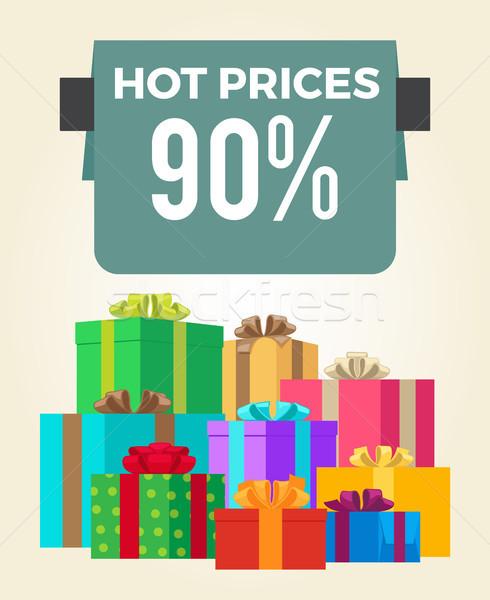 Caliente precios final venta etiqueta Foto stock © robuart