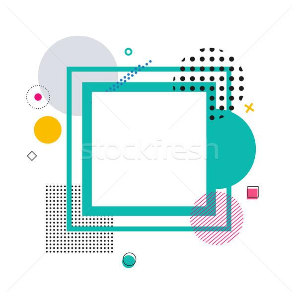 Frame disegno geometrico cerchio piazze diverso linee Foto d'archivio © robuart