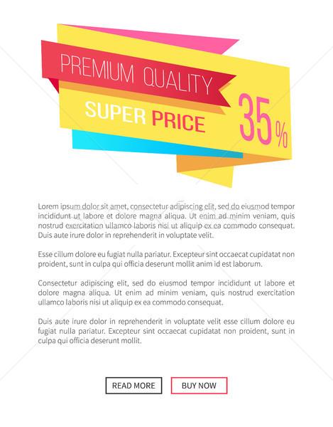 Premium Quality Super Price 35 Off Emblem Label Stock photo © robuart
