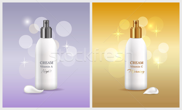 Woman Skin Care Products, Vector Illustration Stock photo © robuart