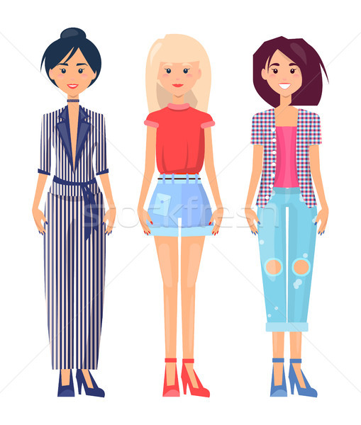 Summer Mode Clothing Collection, Colorful Poster Stock photo © robuart
