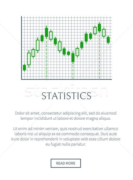 Statistiche carta verde grafico isolato griglia Foto d'archivio © robuart