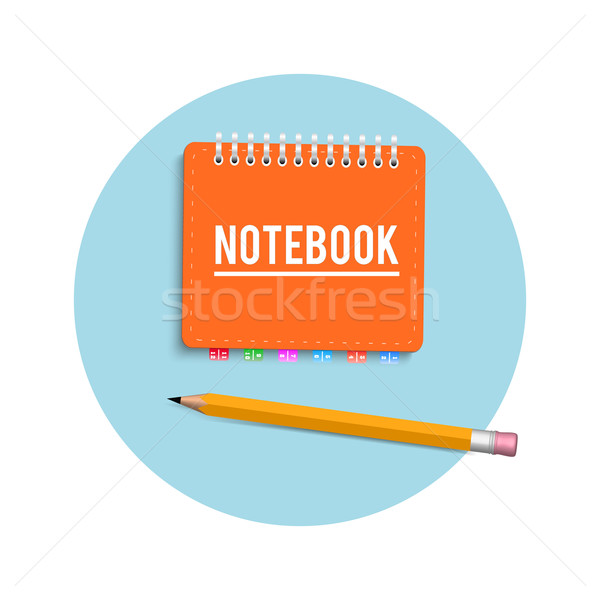 Notebook and pencil Stock photo © robuart