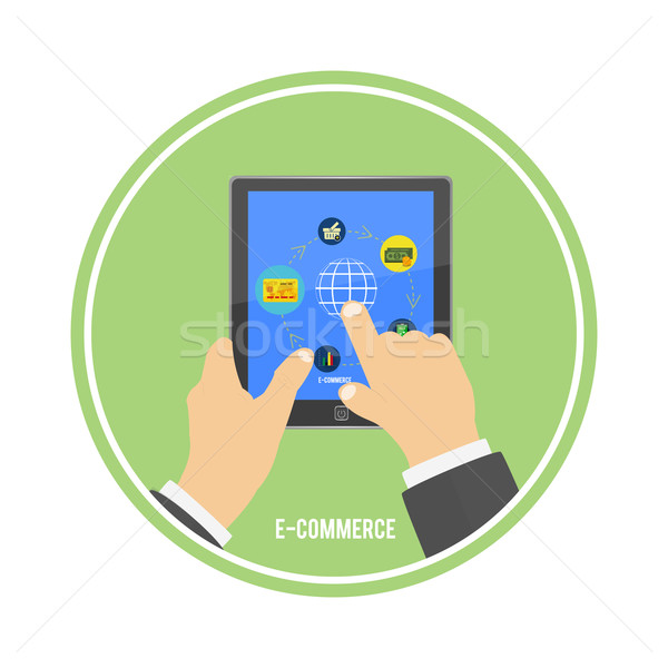 E-commerce infographic concept of purchasing Stock photo © robuart