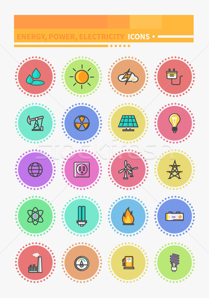 Energy and Resource Icon Set Stock photo © robuart