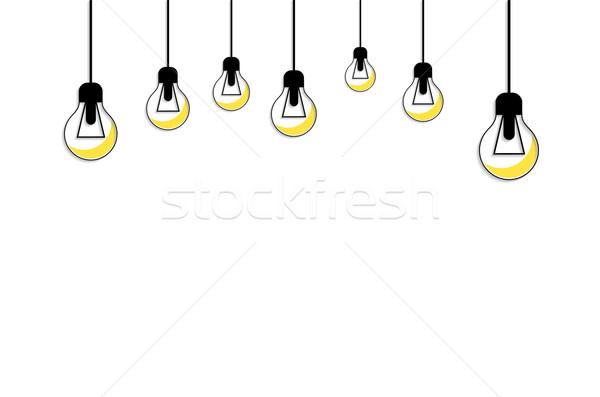 Sarı ampul fikir ilham ışık Stok fotoğraf © robuart