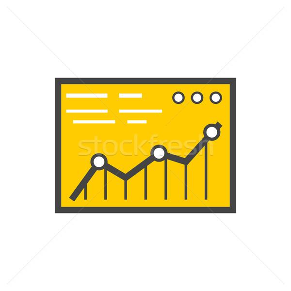 Analysis Stock Exchange Rates on Monitors Stock photo © robuart