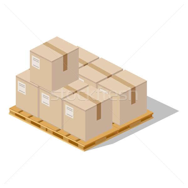 Csomagol termék ikon terv stílus dobozok Stock fotó © robuart