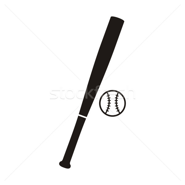 Baseball Bat and Ball Monochrome Icon Stock photo © robuart