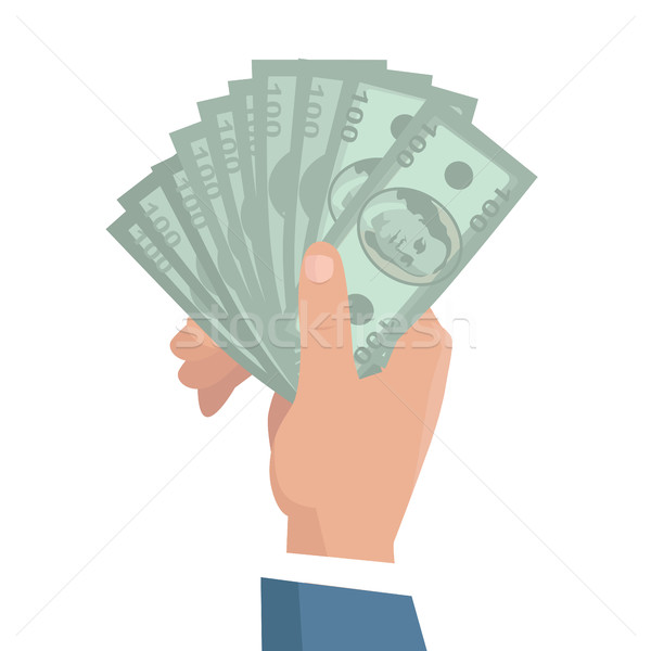 Hand with Money Vector Illustration in Flat Design Stock photo © robuart