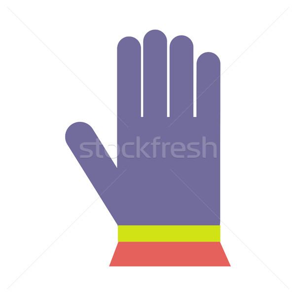 Kış renkli örgü yün eldiven yalıtılmış Stok fotoğraf © robuart