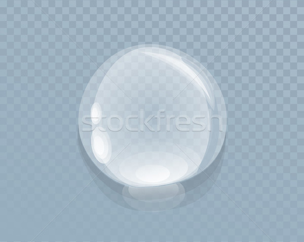 Water Liquid Drop Isolated on Transparent Stock photo © robuart