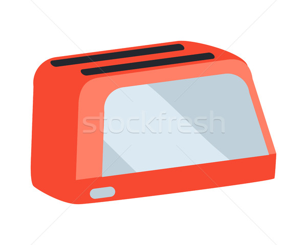 Toaster Vector Illustration in Flat Design Stock photo © robuart