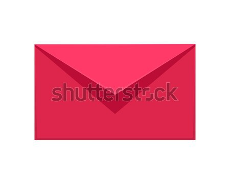 Message Icon. Red or Pink Communication Letter SMS Stock photo © robuart