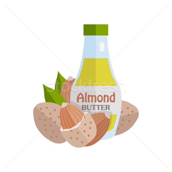 Almonds with Almond Butter. Stock photo © robuart