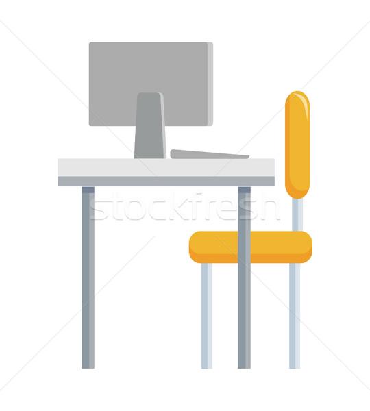 Typique travaux lieu stratégique gestion travail Photo stock © robuart