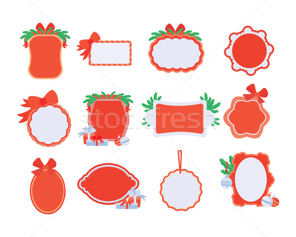 Collection of NewYear and Christmas Sale Stickers Stock photo © robuart