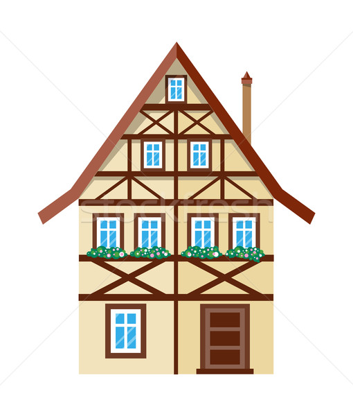 Sweet Exterior Home House Banner Poster Template Stock photo © robuart