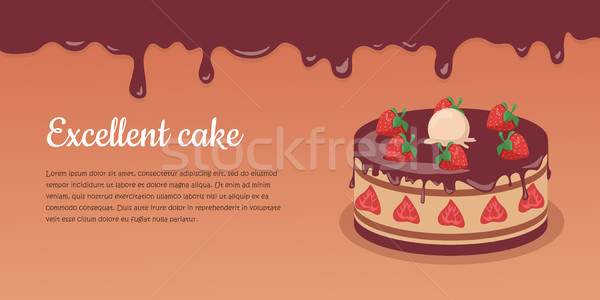Delicious Cake. Excellent Cake. Strawberry Pie Stock photo © robuart