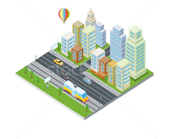 Эко город дизайна Современная архитектура Устойчивое чистой Сток-фото © robuart