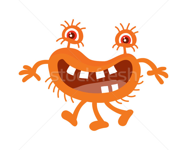 Orange Bacteria Cartoon Vector Character Icon  Stock photo © robuart