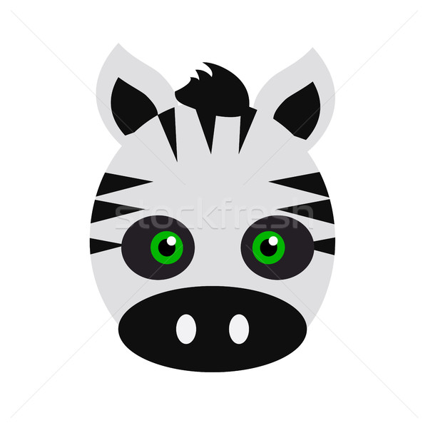 Zebra Carnival Mask. Striped Black White Animal Stock photo © robuart