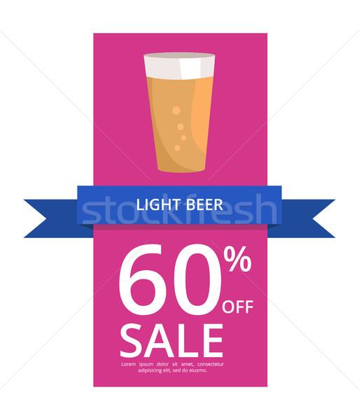 Világos sör 60 el vásár pint alkohol Stock fotó © robuart