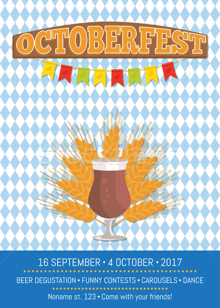 Oktoberfest Promo Poster Vector Illustration. Stock photo © robuart