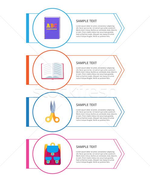 Szett szórólapok különböző tárgyak körök vektor Stock fotó © robuart