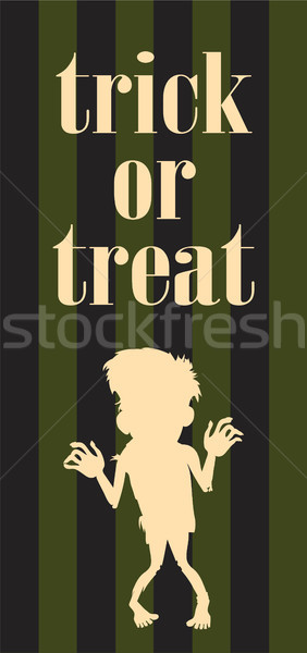 Halloween Night Vector Zombie Undead Person Poster Stock photo © robuart