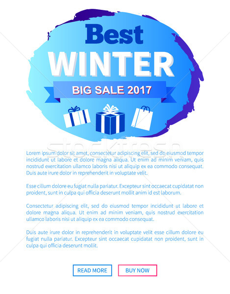 Best Winter Sale 2017 Label Design Presents Gifts Stock photo © robuart