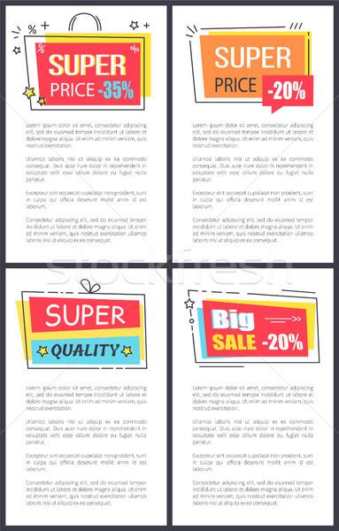 Wspaniały cena duży sprzedaży prostokątny Zdjęcia stock © robuart