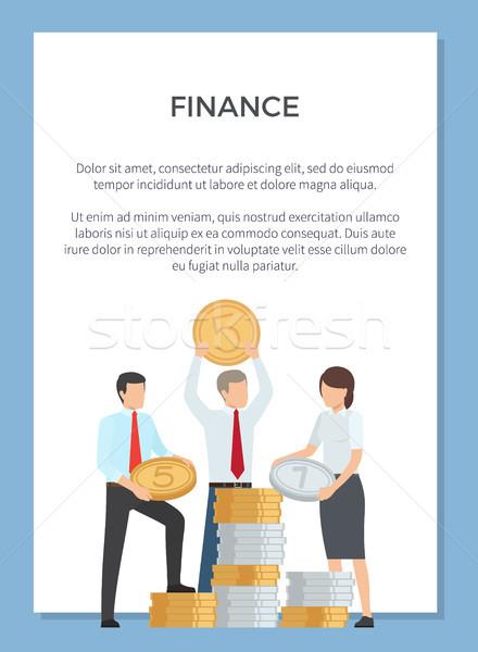 Financieren afdeling poster mensen reusachtig Stockfoto © robuart