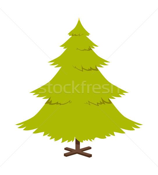 Noel çam ağacı poster sembolik dekorasyon tatil Stok fotoğraf © robuart